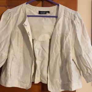 A.N.A. Beige Bolero Jacket Size PM